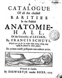Schuyl's catalog of 1727 (courtesy of Univ of Leiden)