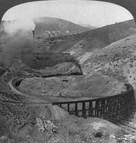 mining railroad, AZ Territory, 1903 (courtesy of Arizona Historical Trust)