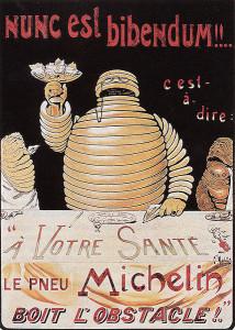 Michelin poster 1898 (courtesy of Michelin)