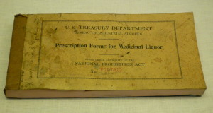 Rx pad (courtesy Rose Melnick Medical Museum)