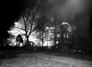 Highland Hospital Fire (courtesy of Asheville Historical Ass'n)
