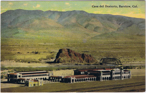 early Harvey postcard of Casa del Desierto