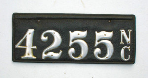 leather NC plate