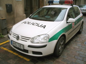 Lithuanian police cruiser