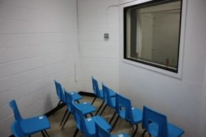 the witnesses' room, pre-yellow paint (courtesy AP)