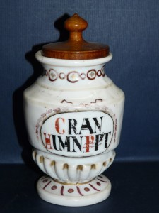 apothecary jar for holding bone